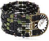 Ziio Pixel Black Beaded Bracelet