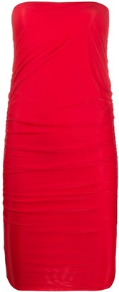 Pinko Gathered Bandeau Dress