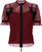 Antonio Marras fitted tulle shirt