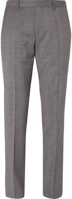 HUGO BOSS Grey Slim-Fit Puppytooth Virgin Wool Suit Trousers