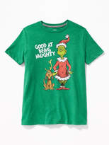 """Old Navy Dr. Seuss' The Grinch """"Good At Being Naughty"""" Tee for Boys"""