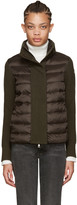 Moncler Brown Quilted Down Jacket