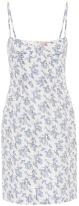 Brock Collection Quellen floral jacquard minidress