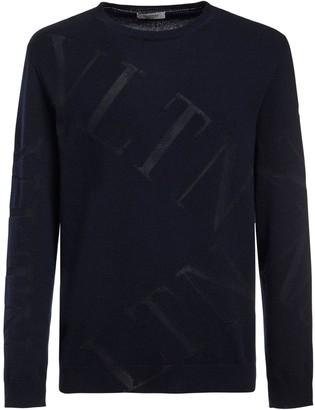Valentino Wool Blend Intarsia Knit Sweater
