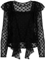 Milly Ruffled Lace Top