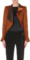 Ann Demeulemeester Asymmetric cropped mohair and wool-blend jacket
