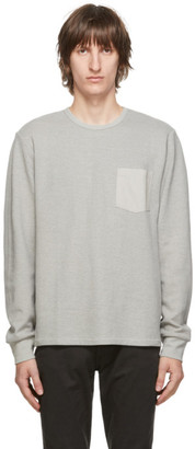 Frame Grey Pocket Long Sleeve T-Shirt
