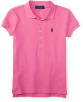 Ralph Lauren 7-16 Stretch Cotton Mesh Polo Shirt