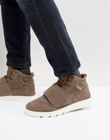 Jack and Jones Houghton Mid Suede Trainers In Brown