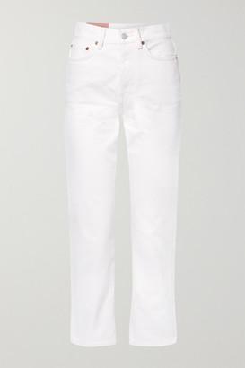 Acne Studios Mece Cropped High-rise Straight-leg Jeans - White