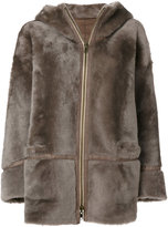Sylvie Schimmel hooded fur coat