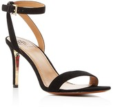 Tory Burch Elana Suede Ankle Strap High Heel Sandals