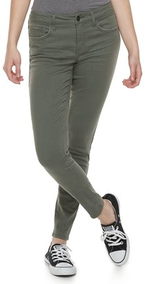 So Juniors' Color Low Rise Twill Jeggings