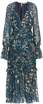 AMUR Reah Silk Midi Dress