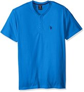 U.S. Polo Assn. Men's Short Sleeve Solid Classic Fit Henley Knit Shirt