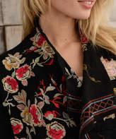 Paparazzi Black English Rose Embroidery Cardigan