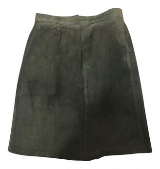 Hermes Khaki Leather Skirts
