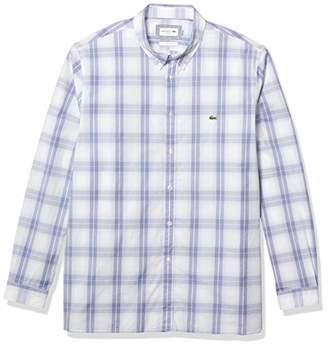 Lacoste Men's Long Sleeve Slim Fit Plaid Woven Shirt