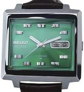 Seiko Actus Stainless Steel / Leather Vintage 36mm Mens Watch