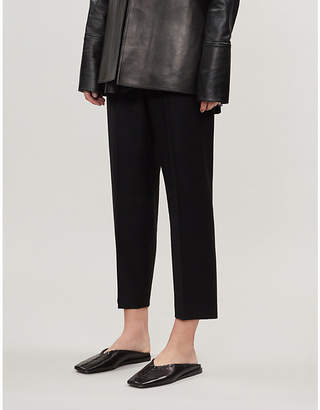 Theory Sleek wool-flannel tailored trousers