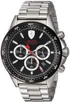 Ferrari Scuderia Men's 'PILOTA' Quartz Stainless Steel Casual Watch, Color:Silver-Toned (Model: 0830393)