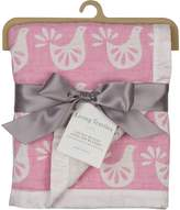 Living Textiles Muslin Textured Blanket – – Lightweight Double-Layered Muslin, Premium Cotton W/ Satin Trim, Soft And Breathable, Ideal Swaddling Blanket