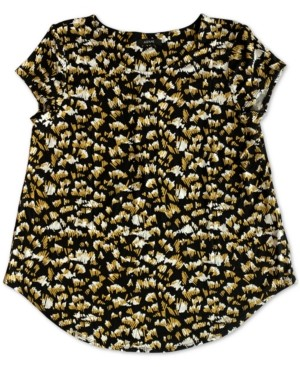 Alfani Plus Size Knit Printed Top, Created for Macy's