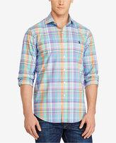 Polo Ralph Lauren Men's Big & Tall Plaid Cotton Poplin Shirt