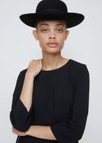 Comme des Garcons Black Wide Brim Bowler Hat
