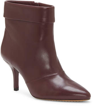 Vince Camuto Women's Casual boots MAHOGANY - Mahogany Red Amvita Leather Bootie - Women