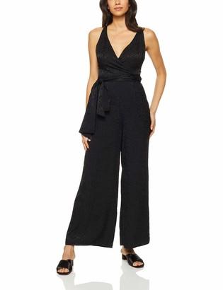 Finders Keepers findersKEEPERS Women's Heatwave Wide-Leg Animal Print Wrap Top Jumpsuit