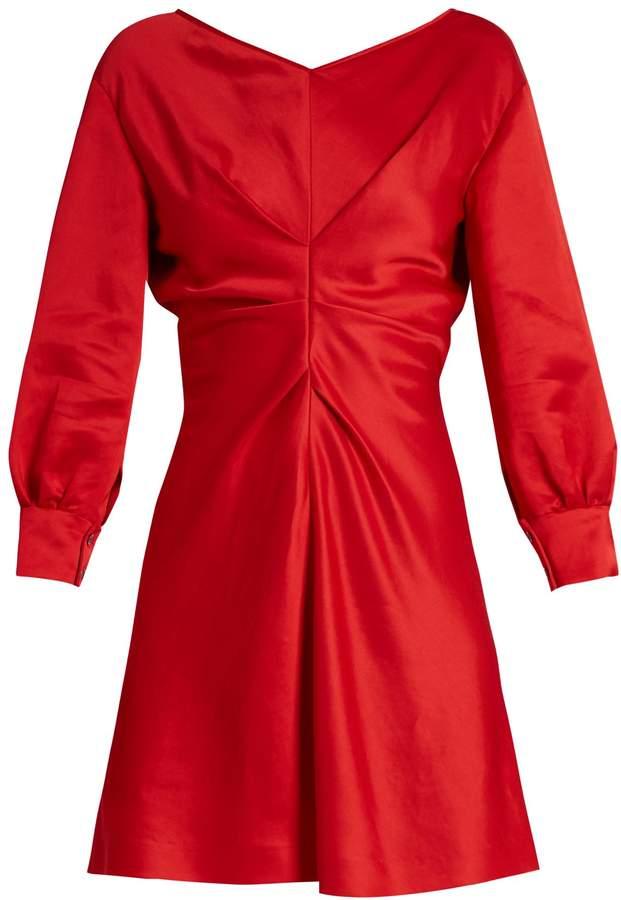 Isabel Marant Rad V-neck satin dress