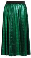 Muveil Metallic pleated skirt