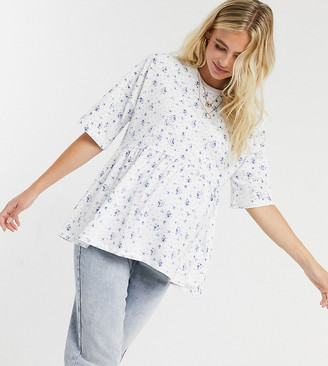 ASOS DESIGN Maternity causal smock top in ditsy print