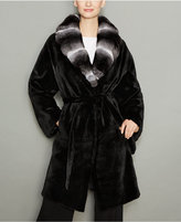 The Fur Vault Chinchilla-Fur-Collar Mink Fur Coat