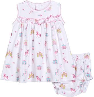 Kissy Kissy Unicorn Castle Dress w/ Matching Bloomers, Size 3-24 Months