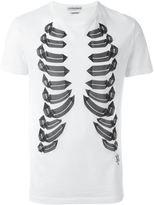 Alexander McQueen rib cage print T-shirt