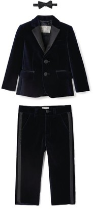 Il Gufo Satin-Trim Three-Piece Tuxedo Set (3-12 Years)