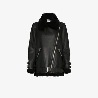 Acne Studios Velocite shearling aviator jacket
