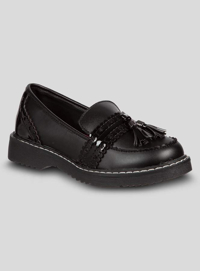 b7ce60c15cae6 Tu Black Chunky Tassel Back To School Loafers
