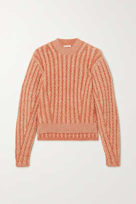 Chloé Cable-knit Wool-blend Sweater - Orange
