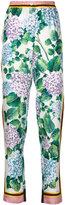 Dolce & Gabbana hydrangea print trousers - women - Silk - 42