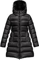 Moncler Suyen Hooded Long Puffer Coat, Black