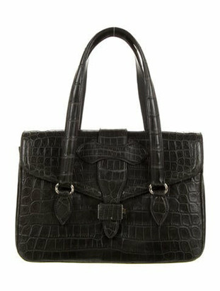 Alaia Alligator Handle Bag Grey