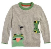 Toddler Boy's Mini Boden Wild Adventure Intarsia Sweater