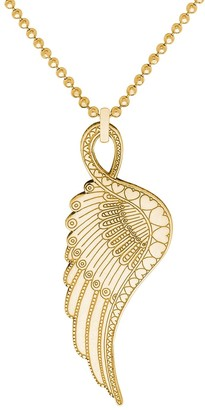 Cartergore Small Gold Wing Pendant Necklace