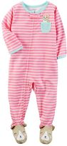 Carter's Baby Girl Striped Footed Pajamas