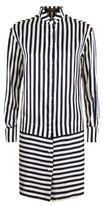 Burberry Striped Silk Shirt Dress