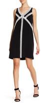 London Times Sleeveless Shift Dress (Petite)