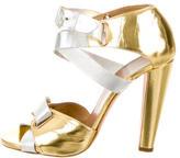 Pierre Hardy Metallic Multistrap Sandals